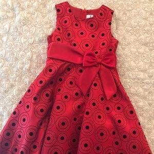 Girls Classic Polka Dot Party Dress